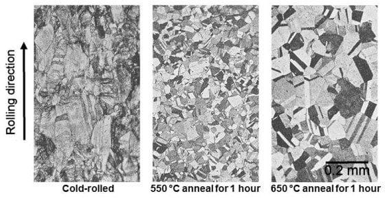 металл после рекристаллизационного отжига