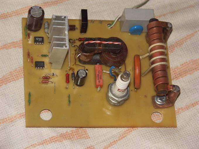 сварочный осциллятор из свечи зажигания