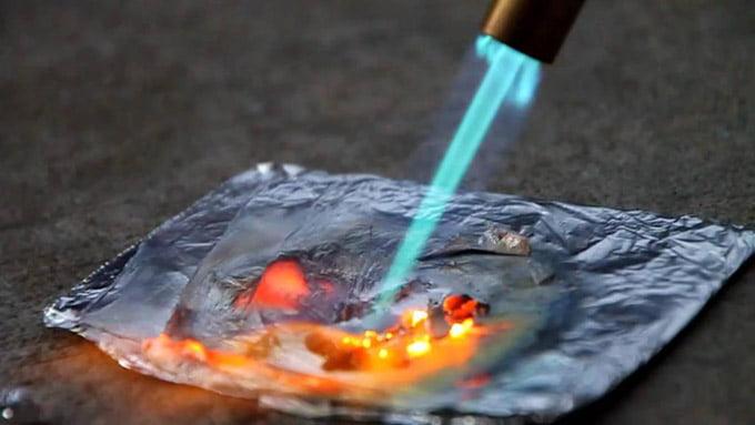 плавление латуни газовой горелкой