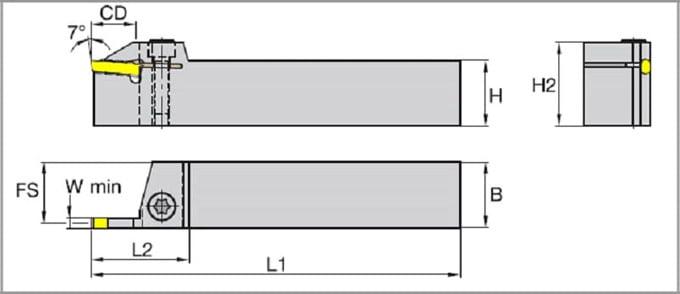 канавочный резец чертеж
